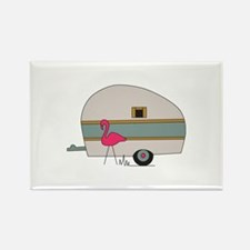 Camper With Flamingo Magnets