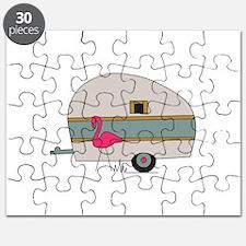 Camper With Flamingo Puzzle