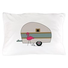 Camper With Flamingo Pillow Case