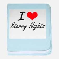 I love Starry Nights baby blanket
