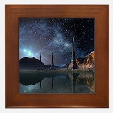 Alien World Framed Tile