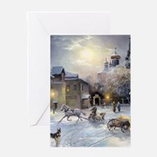 Winter Village Greeting Cards