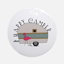 Happy Camper Round Ornament