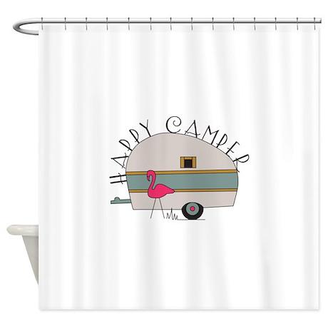 Superior Happy Camper Shower Curtain