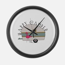 Happy Camper Large Wall Clock