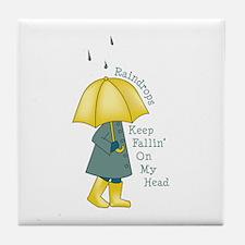 Raindrop Saying Tile Coaster