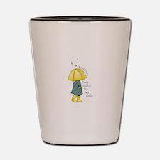 Raindrop Saying Shot Glass