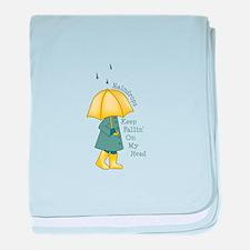 Raindrop Saying baby blanket