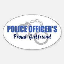 Police Officer's Girlfriend Oval Decal