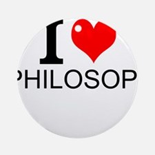 I Love Philosophy Round Ornament