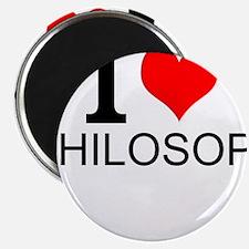 I Love Philosophy Magnets