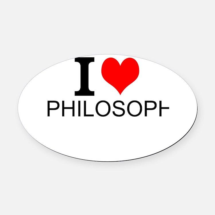 I Love Philosophy Oval Car Magnet