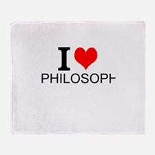I Love Philosophy Throw Blanket