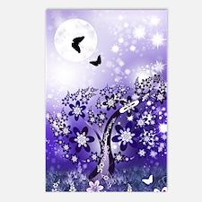 Purple Flowering Tree Postcards (Package of 8)