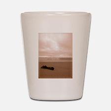 Sepia Beach Shot Glass