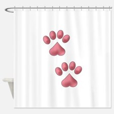 Heart Paws Shower Curtain