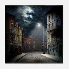 Night Street Tile Coaster