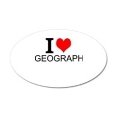I Love Geography Wall Decal