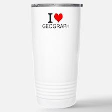 I Love Geography Travel Mug