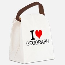 I Love Geography Canvas Lunch Bag