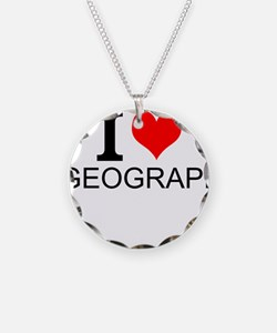 I Love Geography Necklace