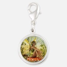 Indian Summer Fairy Silver Round Charm