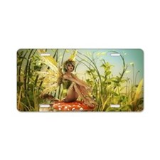 Indian Summer Fairy Aluminum License Plate