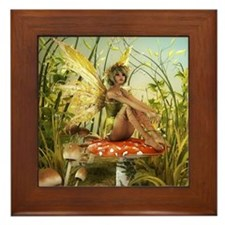 Indian Summer Fairy Framed Tile