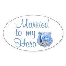 Married to my Hero Oval Decal