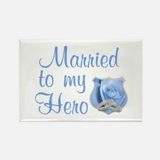 Married to my Hero Rectangle Magnet