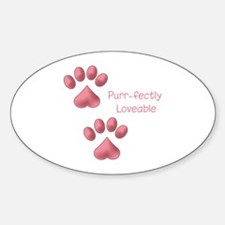 Purr-fectly Loveable Decal