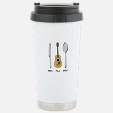 Silverware and Guitar Travel Mug
