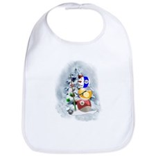 Billiards Ball Snowman xmas Bib
