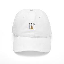 Utensils And Guitar Baseball Baseball Cap