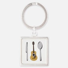 Utensils And Guitar Keychains