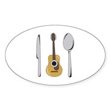 Utensils And Guitar Decal