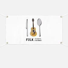 Silverware And Guitar Banner