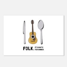 Silverware And Guitar Postcards (Package of 8)