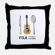 Silverware And Guitar Throw Pillow