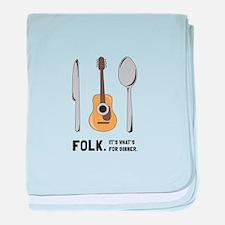 Silverware And Guitar baby blanket