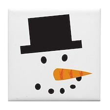 A Snowman Tile Coaster