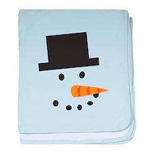 A Snowman baby blanket