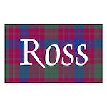 Tartan - Ross Sticker (Rectangle 10 pk)