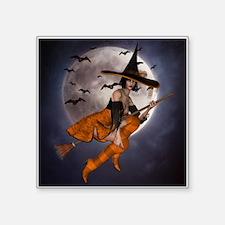 "Halloween Witch Square Sticker 3"" x 3"""