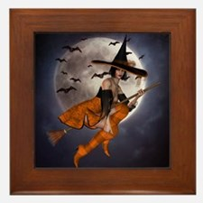 Halloween Witch Framed Tile