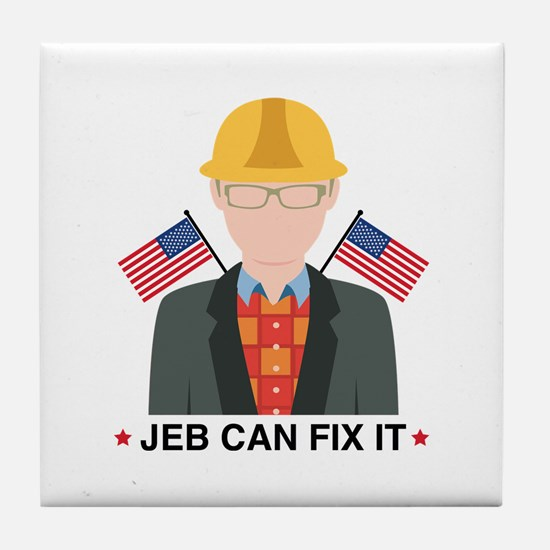 Jeb Can Fix It Tile Coaster