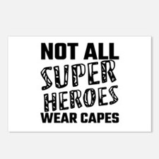 Not All Super Heroes Wear Postcards (Package of 8)