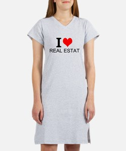I Love Real Estate Women's Nightshirt