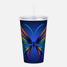 Abstract Butterfly Acrylic Double-wall Tumbler