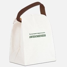 No, my master's degree is not in Canvas Lunch Bag